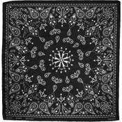 black paisley cotton bandana