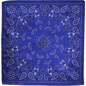 blue paisley cotton bandana