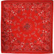 red paisley cotton bandana