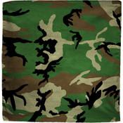 Woodland Camo cotton bandana