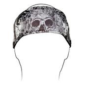 Headband, Polyester, DaVinci Skull