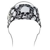 Headband, Polyester, All Over Skull