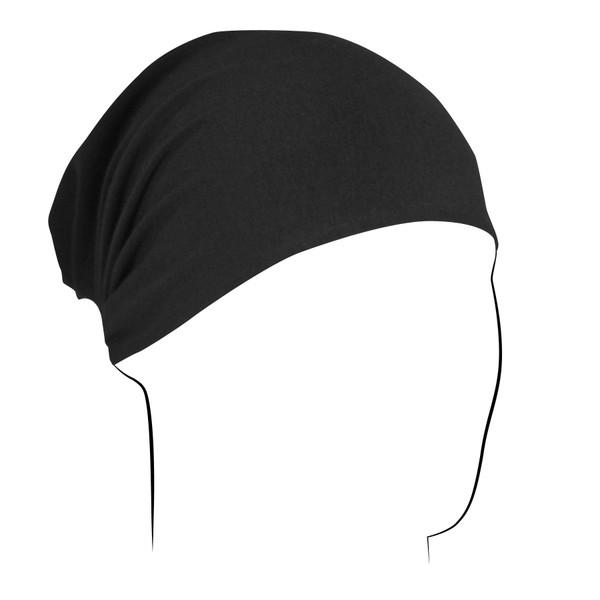 Headwrap, Bamboo/Cotton, Black