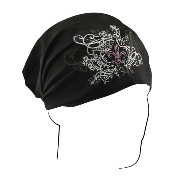 Fleur de Lis Cotton Headwrap