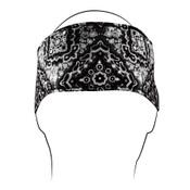 Black Paisley Cotton Headband