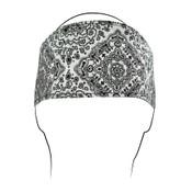 White Paisley Cotton Headband