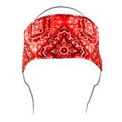 Red Paisley Cotton Headband