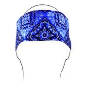 Blue Paisley Cotton Headband
