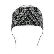 Black Paisley Rhinestones Headband
