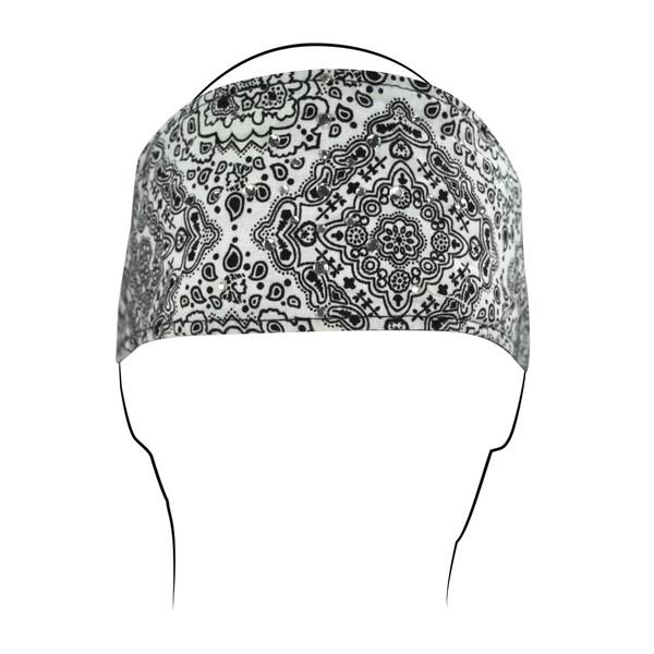 White Rhinestones Cotton Headband
