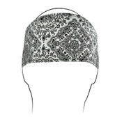 White Rhinestones Cotton Headband