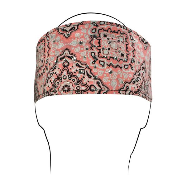 Pink Rhinestones cotton Headband