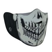 Gray Skull Neoprene Detachable Mask