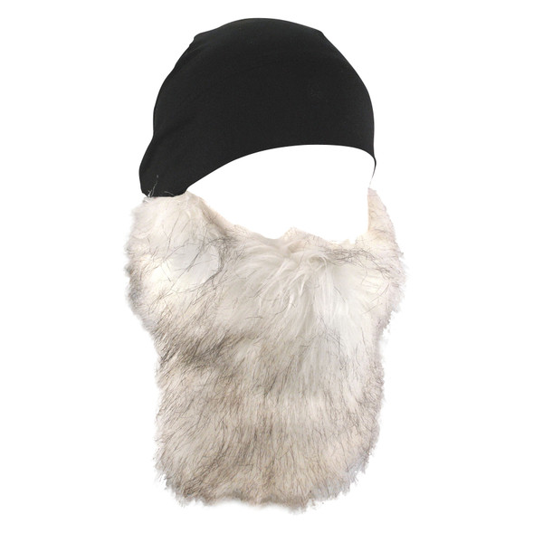 Blk Skull Cap with Detachable beard