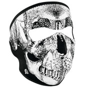 Black & White Skull Glow Face Mask