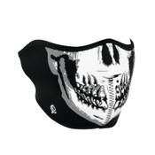 Black and White Skull Half Mask