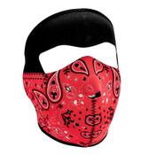 Red Paisley Bandanna Full Mask