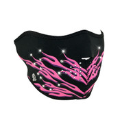 Pink Flames Neoprene Half Mask