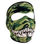 Camo with teeth Neoprene Full Mask