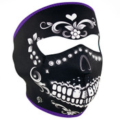 Muerte Rhinestones Full Mask