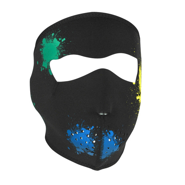 Splatter Glow Neoprene Mask