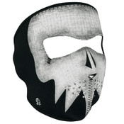 Gray Skull Glow Neoprene Mask