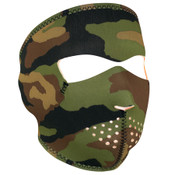 Woodland Camo Neoprene Full Mask