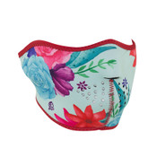 Flowers Neoprene Half Mask