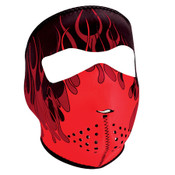 Red Flames Neoprene Full Mask