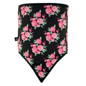 Combo Gaiter Fleece Skull Flowers