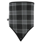 Combo Gaiter Fleece Skull Plaid