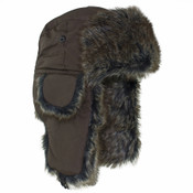 Brown Trooper Hat with Brown Fur