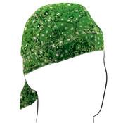 Green Paisley Flydanna headwrap