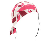 Pink Ribbon White Flydanna headwrap