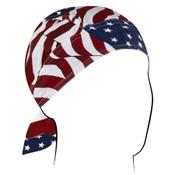 Wavy American Flag Road Hog